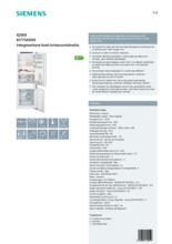 Product informatie SIEMENS koelkast inbouw KI77SAD30