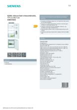 Product informatie SIEMENS koelkast inbouw KI86VVSE0