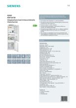 Product informatie SIEMENS koelkast inbouw KI87SAF30