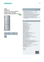 Product informatie SIEMENS koelkast rvs-look KG38QAL30