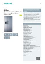 Product informatie SIEMENS koelkast rvs KA58NP95