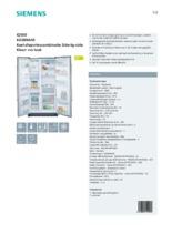 Product informatie SIEMENS koelkast zilver KA58NA45
