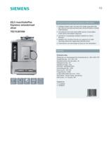 Product informatie SIEMENS koffiemachine grijs TE515201RW