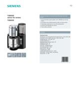 Product informatie SIEMENS koffiezetapparaat TC86303