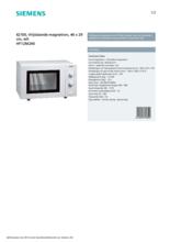 Product informatie SIEMENS magnetron HF12M240