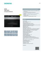 Product informatie SIEMENS oven inbouw CB675GBS1