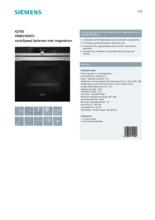Product informatie SIEMENS oven met magnetron HM633GNS1