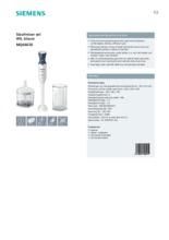 Product informatie SIEMENS staafmixer MQ66020