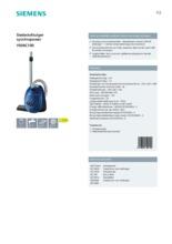 Product informatie SIEMENS stofzuiger blauw VS06C100