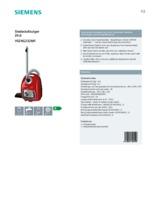 Product informatie SIEMENS stofzuiger rood VSZ4G232M1