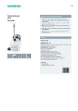 Product informatie SIEMENS stofzuiger wit VSZ5300