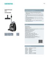 Product informatie SIEMENS stofzuiger zwart VSZ4G333M1