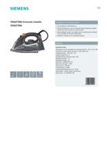 Product informatie SIEMENS stoomstrijkijzer TB56XTRM