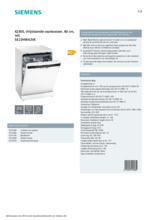 Product informatie SIEMENS vaatwasser SE23HW42VE