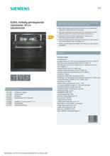 Product informatie SIEMENS vaatwasser inbouw SE63HX42VE