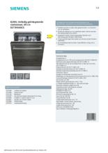 Product informatie SIEMENS vaatwasser inbouw SE73HX60CE