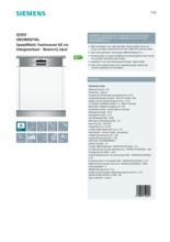 Product informatie SIEMENS vaatwasser inbouw SN59M501NL