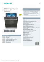 Product informatie SIEMENS vaatwasser inbouw SN67ZX01CE