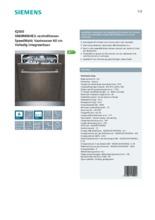 Product informatie SIEMENS vaatwasser inbouw SN68M064EU