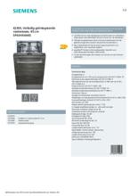 Product informatie SIEMENS vaatwasser inbouw SP63HX64KE
