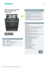 Product informatie SIEMENS vaatwasser inbouw SX63HX52AN