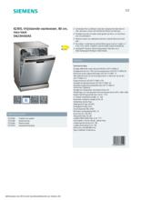 Product informatie SIEMENS vaatwasser rvs-look SN23HI60AE