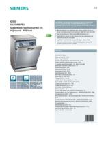 Product informatie SIEMENS vaatwasser rvs-look SN25M887EU