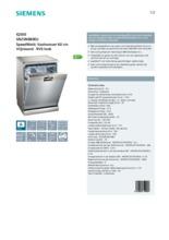 Product informatie SIEMENS vaatwasser rvs-look SN25N880EU