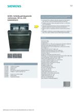 Product informatie SIEMENS vaatwasser verhoogd inbouw SX63HX52CE
