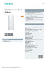 Product informatie SIEMENS vrieskast GS36NUWFV