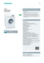 Product informatie SIEMENS wasmachine WM14B262NL