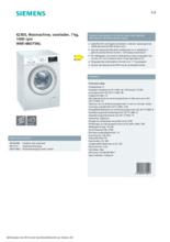 Product informatie SIEMENS wasmachine WM14N075NL