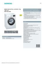 Product informatie SIEMENS wasmachine WM14UQ70NL