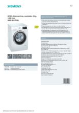 Product informatie SIEMENS wasmachine WM14US70NL