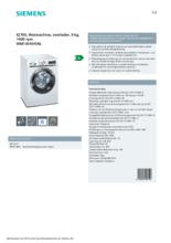 Product informatie SIEMENS wasmachine WM14VKH5NL