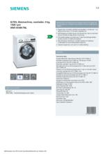 Product informatie SIEMENS wasmachine WM14VMH7NL