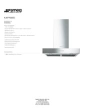 Product informatie SMEG afzuigkap rvs KAP700XE