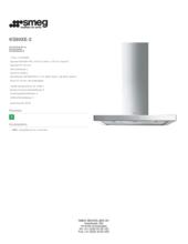 Product informatie SMEG afzuigkap rvs KS90XE2