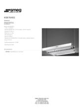 Product informatie SMEG afzuigkap vlakscherm KSET6XE2