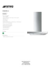 Product informatie SMEG afzuigkap wand KS60XE2