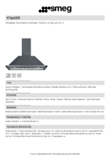 Product informatie SMEG afzuigkap zwart KT90GRE