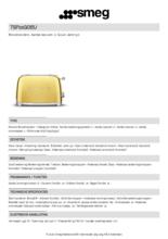 Product informatie SMEG broodrooster goud TSF01GOEU