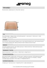 Product informatie SMEG broodrooster goud roze TSF01RGEU