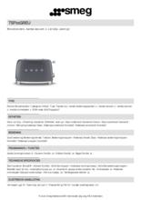 Product informatie SMEG broodrooster lei grijs TSF01GREU