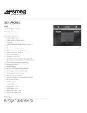 Product informatie SMEG combi/magnetron zwart SC45MCNE2