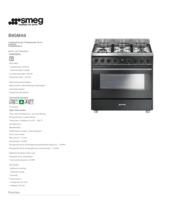 Product informatie SMEG fornuis antraciet B9GMA9