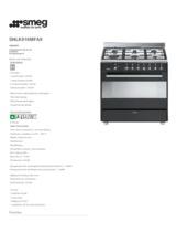 Product informatie SMEG fornuis antraciet SNLK916MFA9
