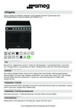 Product informatie SMEG fornuis inductie CPF92IMA