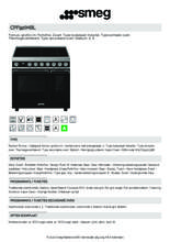 Product informatie SMEG fornuis inductie CPF92IMBL