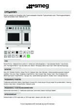 Product informatie SMEG fornuis inductie CPF92IMWH